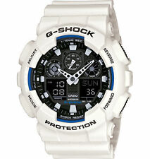 Casio G-Shock White w/ Blue Boarder GA100B-7A Mens Sport Watch New with Tags
