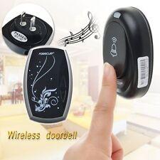 Wireless Plug-in Portable Digital DoorBell Chime Waterproof Remote Control LED
