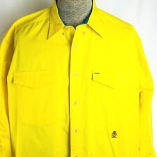 Tommy Hilfiger Vintage Men's Large Button Front Long Sleeve Shirt Yellow Cotton