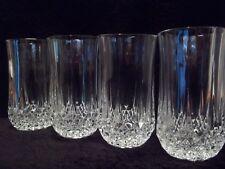 "Cristal d' Arques ""LONGCHAMP"" - 12 OZ. FLAT TUMBLERS  - BOXED Set of (4)"