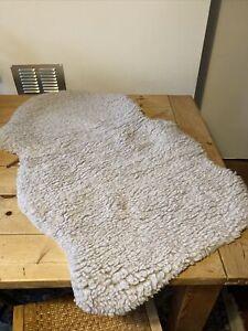 grey faux sheepskin rug