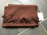 Paul Smith  scarf  100% Pure New Wool - Dark  Brown