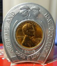 Encased 1960 Lincoln cent - Given Bros. Style Center of the Soutwest~El Paso,Tx