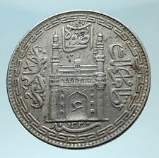 1912 INDIA Princely States Hyderabad ALI KHAN Silver RUPEE Indian Coin i79000