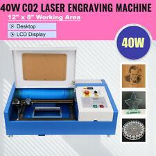 40w 12x8 Usb Co2 Laser Engraver Cutter Engraving Cutting Machine With 4 Wheels