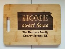 Home Sweet Home Personalized State Cutting Board Housewarming Christmas Gift