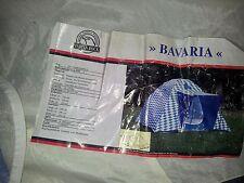 3 Personen Camping Iglu Doppeldach Zelt Indian Rock BAVARIA bayerisch weiß-blau