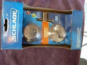 Schlage Professional Grade single Key Deadbolt B360N V 619 Satin Nickel