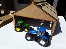 Laser Cut 1:32 Scale Barn Farm Building Tractor Shed Wooden Kit 3 Sections
