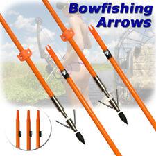 3pcs Archery Bowfishing Arrow Broadheads Recurve Compound Bow Fishing Hunting