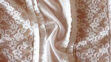 (Grundpreis: 9,00 €/m) elastische Baumwoll-Spitze Streifen, 0,5m, ( 6,67 €/m²)