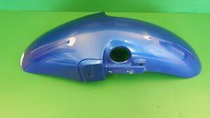 TRIUMPH BLUE FRONT MUDGUARD FENDER TIGER 885 CARB STEAMER #0086