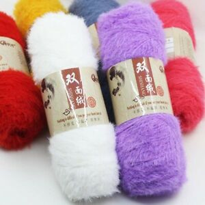 Knitted Wool Yarn Coloured Supersoft Knitting Craft Cashmere Fluffy 100G Crochet