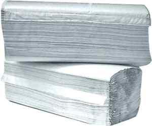 Einweg / Papierhandtücher 2-lagig, weiß, 3200 Stk, 25 x 23 cm,ZZ-Falz #788137
