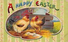 Easter~Rooster & Hen Guard Egg Nest~Palette Portal~Wallpaper Back~Germany~GEL