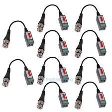 10x CCTV Camera Passive Video Balun BNC Connector Coaxial Cable Adapter UTP Cat5
