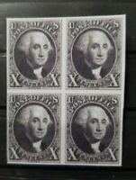 US Stamps SC #2 1847 10 Cent George Washington Block Facsimile Copy Place Holder