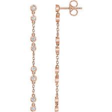 Catenina di diamanti Orecchini in 14k oro rosa (1/3 ct. TW
