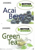 Acai Berry 2000mg Green Tea 2000mg Extreme Strength Diet Weight loss Diet SLIM