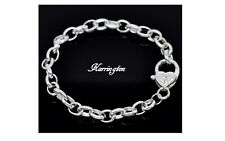 Ladies Silver Plated Love Heart Chain Link Fashion Bracelet