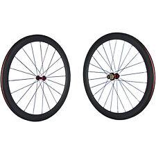 Red R13 Hub Racing Bicycle Carbon Wheel 50mm Carbon Clincher Wheel Set Road Bike