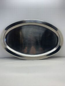 Wolfgang Puck Bistro Collection-16 x 10 1/2 Oval Stainless Tray/Serving Platter
