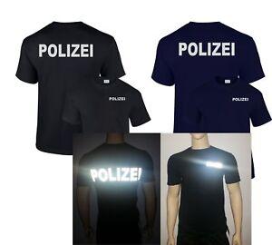 Polizei T-Shirt reflektierender beidseitiger Druck verschiedene Farben bis 5XL