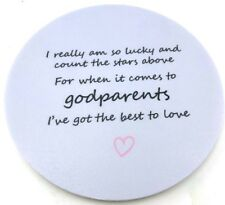 Godparent Godfather Godmother Printed Gift Coaster