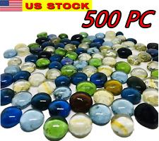 500 Pcs Mixed Color Glass Gems, Pebbles, Mosaic Tiles Marbles Vase Accents (5Lb)