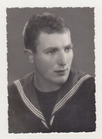 Super Cute Affectionate Handsome Young Man Nice Face Gay Int Navy Guy Old Photo