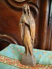 Superbe Vierge Ancienne En Bois
