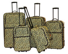 Tiger Design 5-Piece Expandable Lightweight Rolling Luggage Set