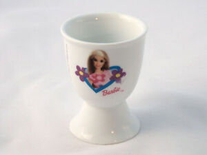 Barbie Mattel Egg Cup 2001 Barbie with Flowers Ceramic Collectable 66mm Eggcup