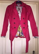 H&M Stunning Belted Jacket With Quilting, Size 10-12 - Gorgeous!