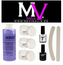 KIT  PORCELANA BAJO OLOR + PRIMER + TOP COAT  NDED / TIPS / MONOMERO / UÑAS