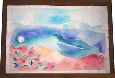 """JOY LAVILLE 22"""" x 15"""" GOUACHE ON THICK PAPER PAINTING SIGNED"""