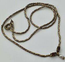 925 Silber Collier mit Granat & Perle -  22.5.20
