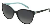 *NEW TIFFANY & CO. TF4089B 8055T3 BLACK/BLUE FRAME POLARIZED GREY GRADIENT LENS