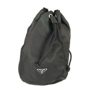 100% authentic Prada Tesuto drawstring bag used 1292-3-e@1