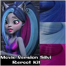 Monster High Silvi Movie Version Custom OOAK Doll Re-root Pack Nylon Hair Kit