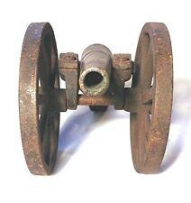 Cast iron toy cannon - Rare antique 1886