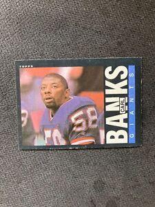 1985 Carl Banks ROOKIE VG #111 Topps Football Card New York Giants NFL