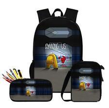 NEW Among Us Game 3pcs/Set Backpack Teenage School Bags Travel High Quality 2020