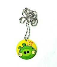 NEW Angry Birds Movie Dog Tag Necklace Collectible RARE! Green Bird Keychain