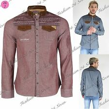 Unbranded Men's Cotton Long Sleeve Casual Shirts & Tops