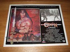 Original CONAN THE DESTROYER Arnold Schwarzenegger Mexican Lobby Card 11x14