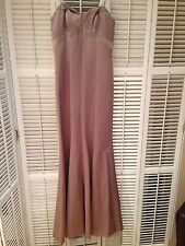 Badgley Mischka Satin Sweetheart Bridesmaid Dress Style bm950014 sz 2