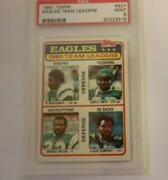 1981 Topps #507 Eagles Team Leaders PSA 9