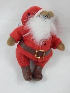 "World of Miniature Bears 2.5"" Plush Bear #1127 Claus Closeout"