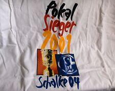 FC SCHALKE 04 - T-Shirt Dt. Pokalsieger 2001,Gr. XL ,Neu,OVP,Lizenz